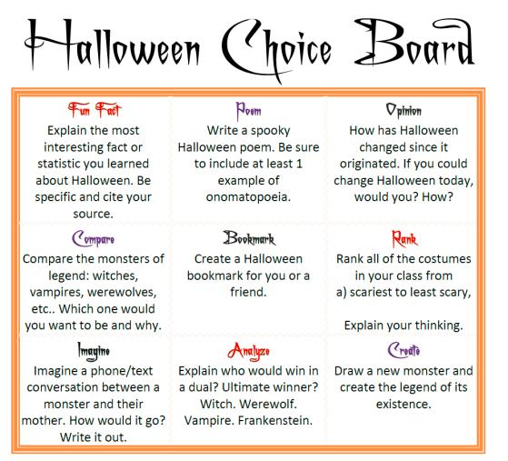 halloween-choice-board
